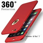 Hybrid 360° New Shockproof Case Tempered Glass Cover For Apple iPhone 7 5s 6s SE