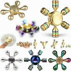 6 Side Fidget Hand Spinner Finger Brass Toy EDC Focus ADHD Stress Relief Gyro