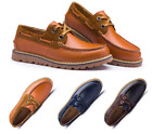 Mens Gent Leather Loafers Leisure Flats Deck Boats Shoes US Size 6 7 8 9 10 10.5