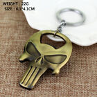 New Punisher Skull Keychain Beer Bottle Opener Mask Key Chain Ring Men Jewelry