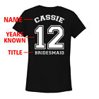 Personalized Sports Jersey Wedding Bridal Party V-Neck T-Shirt Bridesmaid Gift
