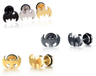 3 Colors available 316L stainless steel Batman pattern COOL Mens Stud Earrings