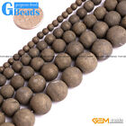 Natural Pyrite Gemstone Frost Matte Round Beads For Jewelry Making Free Shipping