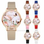 Women Vogue Leisure Flowers Alloy Analog Quartz Wristwatch Watch Gift