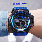 Fashion Men's Quartz Analog Digital Watch 30M Waterproof Military Wristwatch