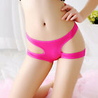 Pure Ladies Color Open Female Briefs Thongs G-string Lingerie Sexy Underwear New