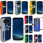 Samsung Galaxy S8 / S8 Plus Fan Case Official NFL Dual Armor With Tempered Glass