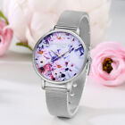 Lady Girl Fashion Bracelet Dress Watch Steel Net Quartz Wrist Watch Casual