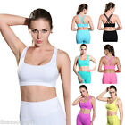 Fashion Women's Seamless Padded Sports Bra Yoga Fitness Back Cross Bras Top HX