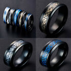 8MM Silvering Celtic Dragon Tungsten Carbide Ring Mens Jewelry Size7-10/US