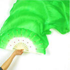 1.8m Hand Made Colorful Belly Dancing Bamboo Long Silk Veils Dance Fans Great