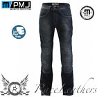 PMJ VEGAS BLUE REINFORCED ANTI-ABRASION MOTORCYCLE BIKE JEANS WITH KNEE ARMOUR
