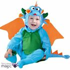 Baby Toddlers Blue Dragon Dinosaur Halloween Fancy Dress Costume Outfit Wings