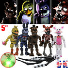 Set of 5/6/11PCS Fnaf Five Nights at Freddy's Action Figures With LED Light Toys