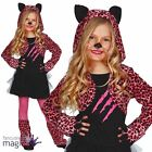 Childs Girls Pink Tutu Leopard Animal Halloween Fancy Dress Costume Outfit Ears