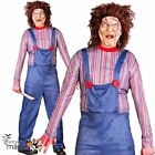 Mens Killer Doll Chucky Halloween Horror 80s 90s Film Fancy Dress Costume Outfit