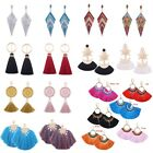 Fashion Women Crystal Earring Vintage Long Tassel Fringe Boho Dangle Earrings #