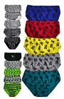 Boys Printed Briefs New Kids 5 Pack Pants 100% Cotton MultiPack 7 - 13 Years