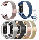 Stainless Milanese Magnetic Loop Band Strap For FitBit Charge 2 Watch Wristband