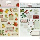 Dovecraft Winter Blooms A5 Sticker Sheet and Glad Tidings Glitter A5 Sticker