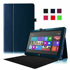 For Microsoft Surface 2 Surface RT 10.6 inch Folio Leather Stand Case Cover