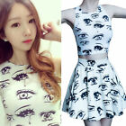Kawaii Clothing Cute Ropa Harajuku Dress Skirt Crop Top Eyes Ojos Falda Vestido