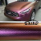 All Sizes Chameleon 3D Carbon Fiber Vinyl For Whole Car Wrapping Film Gold / P