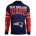 Forever Collectibles NFL Mens New England Patriots Big Logo Hooded Sweater, Navy
