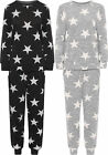Womens Plus Star Print Jogging Suit Ladies Loungewear Set Top Bottoms Co-ord
