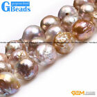 Natural Big Nuclear Edison Pearl Near Round Beads For Jewelry Making String 15""