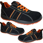 MENS LADIES SUEDE SAFETY STEEL TOE CAP LIGHTWEIGHT WORK SHOES LACE UP TRAINERS