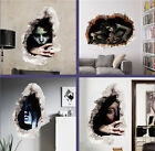 Horror Ghost Halloween Decorative Living Room Decor Wall 3DStereo Wall Sticker