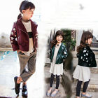 Kids Clothes Jackets Autumn Girls Coats Children Clothing PU Leather Outerwear