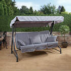 Roma 3 Seater Swing Seat - Charcoal Frame with Luxury Cushions