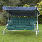 Roma 3 Seater Swing Seat - Silver Frame with Classic Cushions