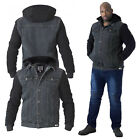 Duke D555 Big Tall King Size Mens Designer Walcott Detachable Hood Denim Jacket