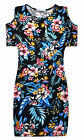 Girls Floral Midi Dress New Kids Cold Shoulder Body Con Dress Ages 5 - 13 Years