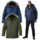 Duke D555 Mens Lovett Big Tall King Size Designer Detachable Faux Fur Parka Coat