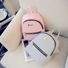 1 Pc Lovely Women PU Leather Zipper Backpack Rucksack College Shoulder Satchel