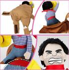 Dog Cat Costume Funny Riding Horse Cowboy Party Outfit Pets Cute Harness Clothes