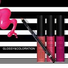 16 Color Soft Matte Liquid Lip Cream Gloss Lipstick & Lip Line Pencil Set WS
