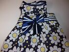 Navy blue DAISY Dot Party Dress XS New Simply Dog Pet XSmall puppy yorkie