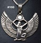 Hallmark Egyptian Pharaonic Silver Pendant ISIS, many to choose from