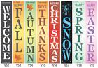 "Joanie 40"" STENCIL Vertical Holida Fall Welcome Snow Christmas Autumn Porch Sign"