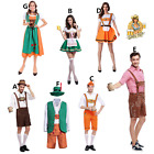 Ladies Men Oktoberfest Beer Maid Wench German Bavarian Heidi Fancy Dress Costume