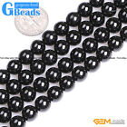 """Natural Black Spinel Gemstone Round Beads For Jewelry Making Free Shipping 15"""""""