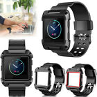 Black Armor Replacement Large Wristband Watch Band Strap+Frame for FITBIT BLAZE image