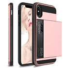 For Apple iPhone XS MaxXRX Shockproof Hard Case With Wallet Credit Card Holder