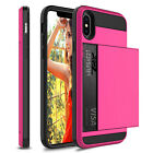 For iPhone 11 Pro Max/XS Max/XR/X Shockproof Case With Wallet Credit Card Holder