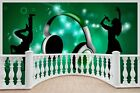 Huge 3D Balcony Musical P y Dance Club Wall Stickers Wallpaper Mural 819
